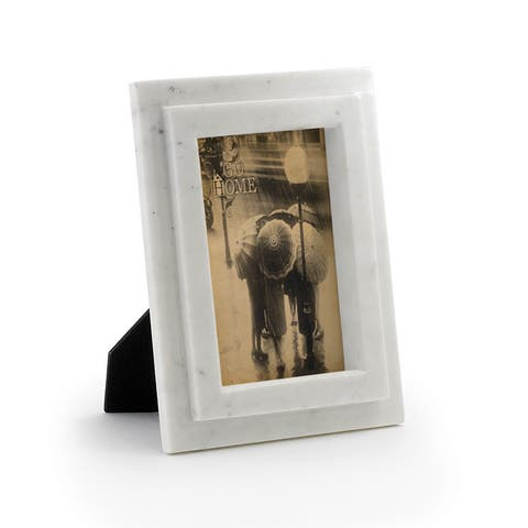 Natural 2-Layer Beveled Marble Picture Frame