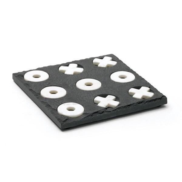Slate and Marble Tic Tac Toe
