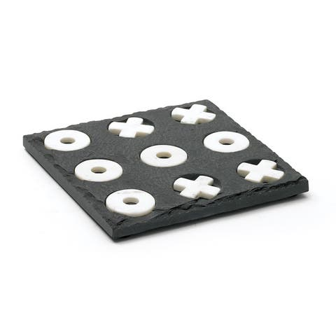 Rectangle Slate and Marble Tic Tac Toe
