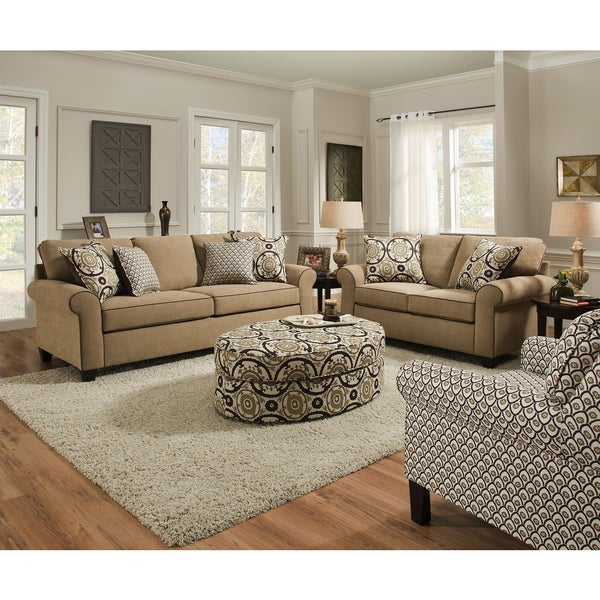 Simmons Upholstery Beachfront Froth Queen Sleeper