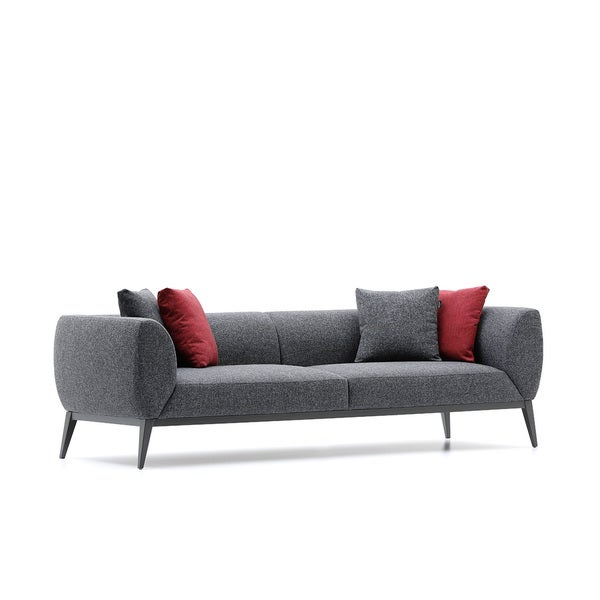 Bienal Morrison 3 Seater Sofa With Metal Legs With Black Coating