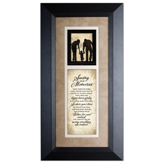 Saving Our Memories Wood Framed Art with Easel