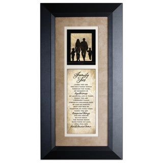 Family Ties Wood Framed Art with Easel