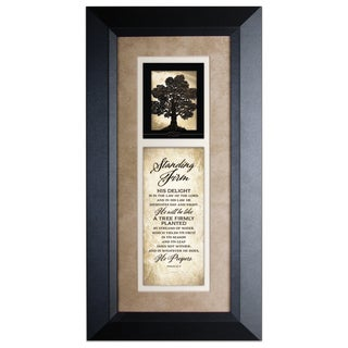 Standing Firm Wood Framed Art with Easel