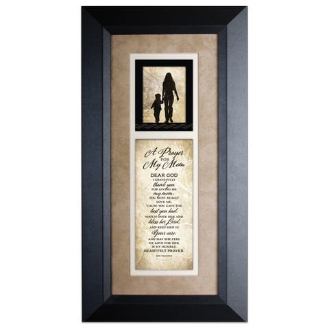 Prayer For My Mom Wood Framed Art with Easel