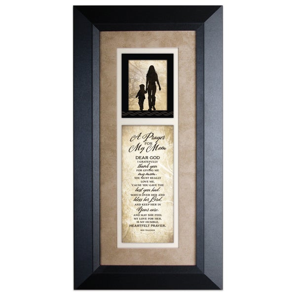 Shop Prayer For My Mom Wood Framed Art With Easel Free Shipping On