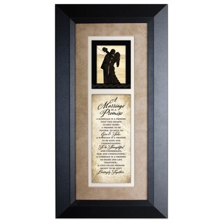 Marriage Promise Wood Framed Art with Easel