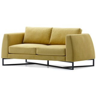 Bienal Triangle 2 (Two) Seater Sofa, Loveseat, Metal Legs with Black Coating