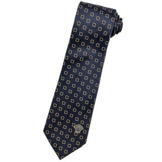 Versace 100-percent Italian Silk Blue Square Neck Tie