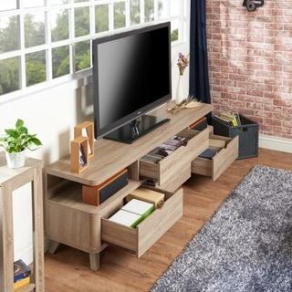 """Furniture of America Toletti 70"""" 4-drawer TV Console"""