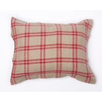 Neil Red Plaid Cotton Sham