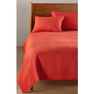 Richard Orange Cotton/Linen Quilt