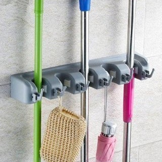 Sorbus Broom and Mop Storage Organizer, Wall Mounted Organizer and Storage