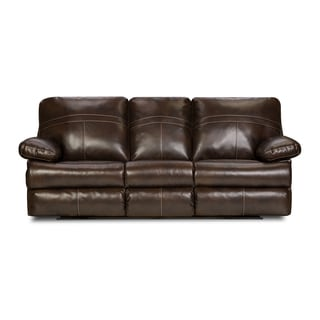 Simmons Upholstery Miracle Bonded Leather Double Motion Sofa