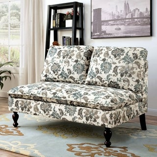 Furniture of America Deidre Romantic Split Back Loveseat Bench