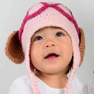 Large Pink Puppy Dog hat