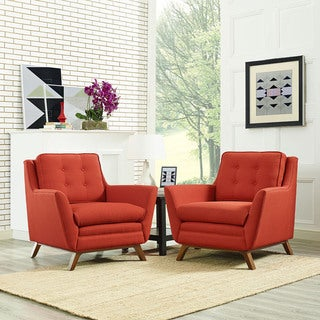 Beguile Fabric Mid Century 2-piece Living Room Set