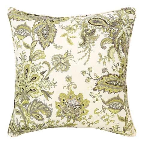 Ezmeralda Floral 20x20 Throw Decorative Accent Throw Pillow