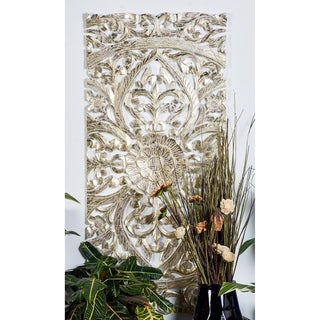 """Link to 22"""" x 48"""" Set of 3 Hand-Carved Gold Pine Wood Wall Panels by Studio 350 Similar Items in Wall Sculptures"""