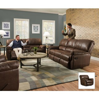 Simmons Upholstery Renegade Mocha Beautyrest Motion Console Loveseat