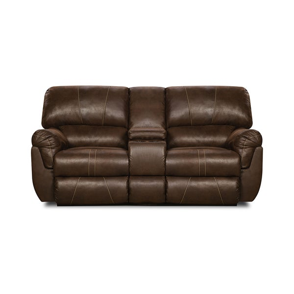 simmons loveseat. simmons upholstery renegade mocha beautyrest motion console loveseat