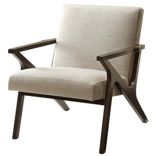 Beso Mid-Century Coffee Finished Accent Chair