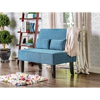 Furniture of America Amirsa Modern Upholstered Armless Loveseat Bench