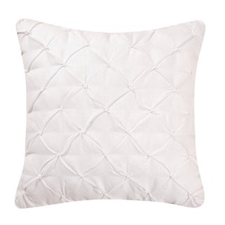 Diamond Tuck White Feather Down 17x17 Throw Pillow