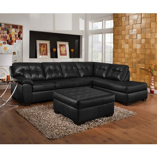 Simmons Upholstery Soho Onyx Sectional and Ottoman