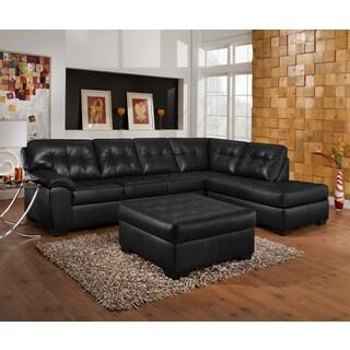 Simmons Upholstery Soho Onyx Sectional and Ottoman