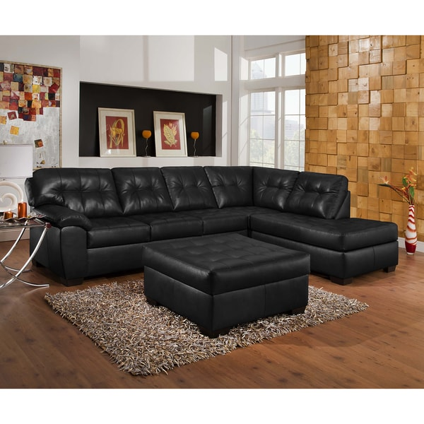 Simmons Upholstery Soho Onyx Sectional and Ottoman  sc 1 st  Overstock.com : sectional ottoman - Sectionals, Sofas & Couches