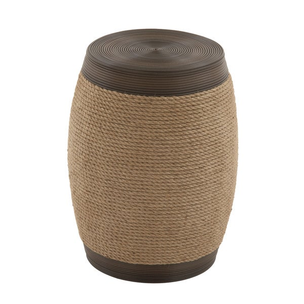 Wooden Jute Stool Free Shipping Today Overstock Com