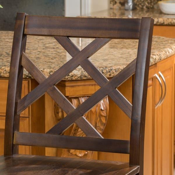 Phenomenal Shop Naples Acacia 26 Inch Wood Counter Stool Set Of 2 By Inzonedesignstudio Interior Chair Design Inzonedesignstudiocom
