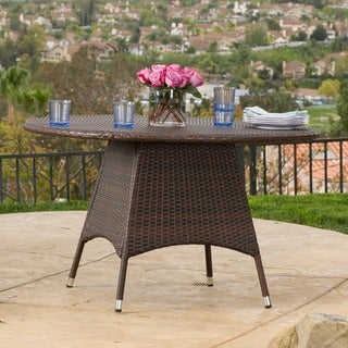 Corsica Outdoor Wicker Round Dining Table (ONLY) by Christopher Knight Home (2 options available)