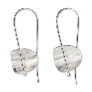 Handmade Sterling Silver 'Urban Minimalism' Earrings (Indonesia)