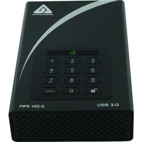 "Apricorn Aegis Padlock DT FIPS ADT-3PL256F-8000 8 TB 3.5"" External Ha"