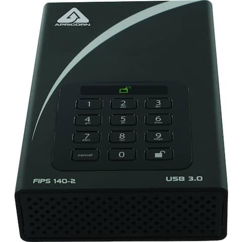 "Apricorn Aegis Padlock DT FIPS ADT-3PL256F-8000 8 TB Hard Drive - 3.5"" Drive - External - Desktop"
