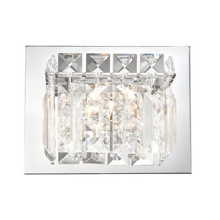 Alico Crown 1-light Vanity with Chrome and Clear Crystal Glass