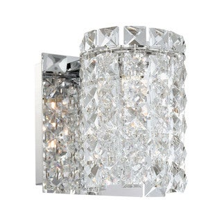 Alico Queen 1-light Vanity with Chrome and Clear Crystal Glass