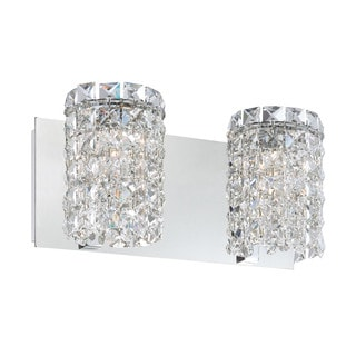 Alico Queen 2-light Vanity with Chrome and Clear Crystal Glass