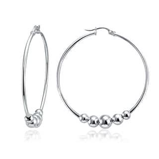 Mondevio 5-Bead Round Hoop Earrings|https://ak1.ostkcdn.com/images/products/11415835/P18379330.jpg?impolicy=medium