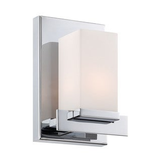 Alico Sleek 1-light Vanity with Chrome and White Opal Glass (As Is Item)