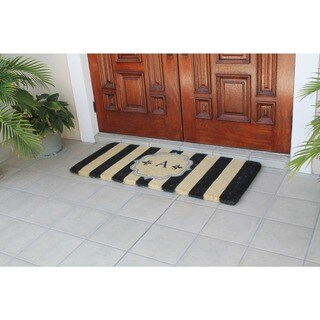 A1HC First Impression Haywood Monogrammed Handmade Entry Double Doormat by Artisans (2' x 4'9)