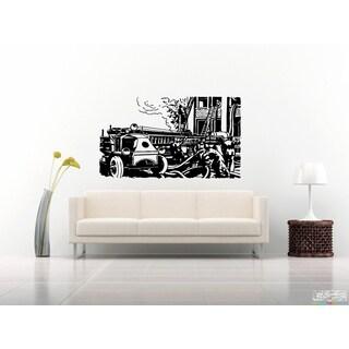 Fire Truck Fire Wall Art Sticker Decal