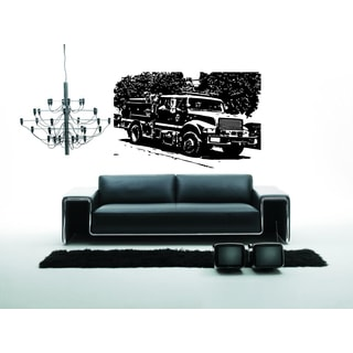 Fire truck on the nature Wall Art Sticker Decal