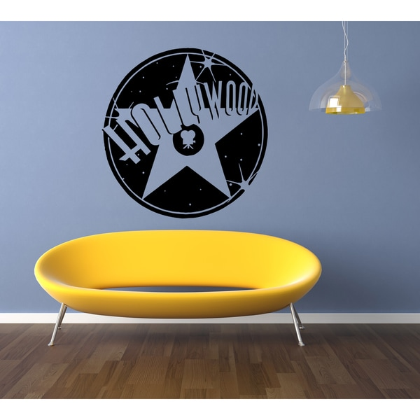 Hollywood Star Wall Art Sticker Decal - Free Shipping On Orders Over ...