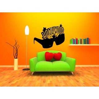 Universe Hollywood Glasses Wall Art Sticker Decal