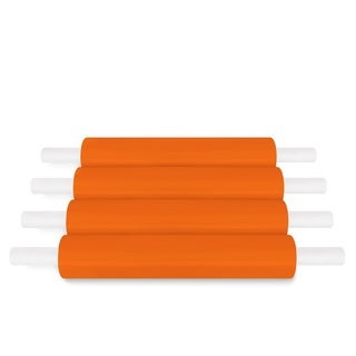 20 In 1000 Ft 80 Ga Orange Extended Core Banding Stretch Wrap Film 16 Rolls (4 Cases)