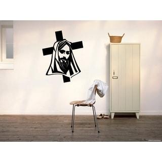 Jesus Christ Prayer Cross Wall Art Sticker Decal