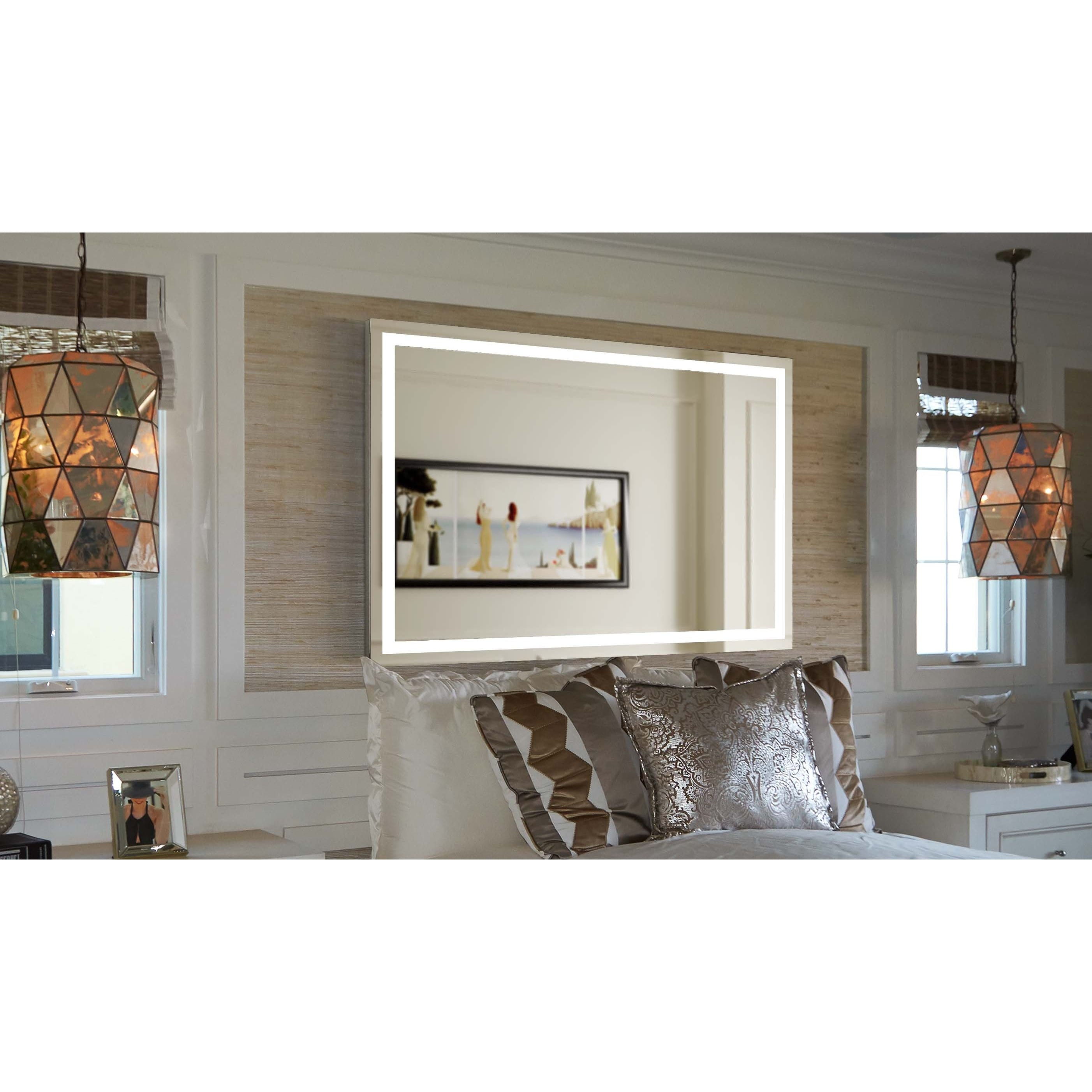 Innoci Usa Terra Led Wall Mount Lighted Vanity Mirror Overstock 11416276 22 X 35 Medium 15 32 High Horizontal